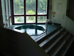 Recreation center spa with mountian view