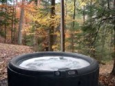 Private outdoor 4 person hot tub